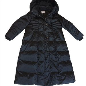 Long Black Puffer Faux Fur Hoodie Coat Woman Within 22 W Excellent Condition